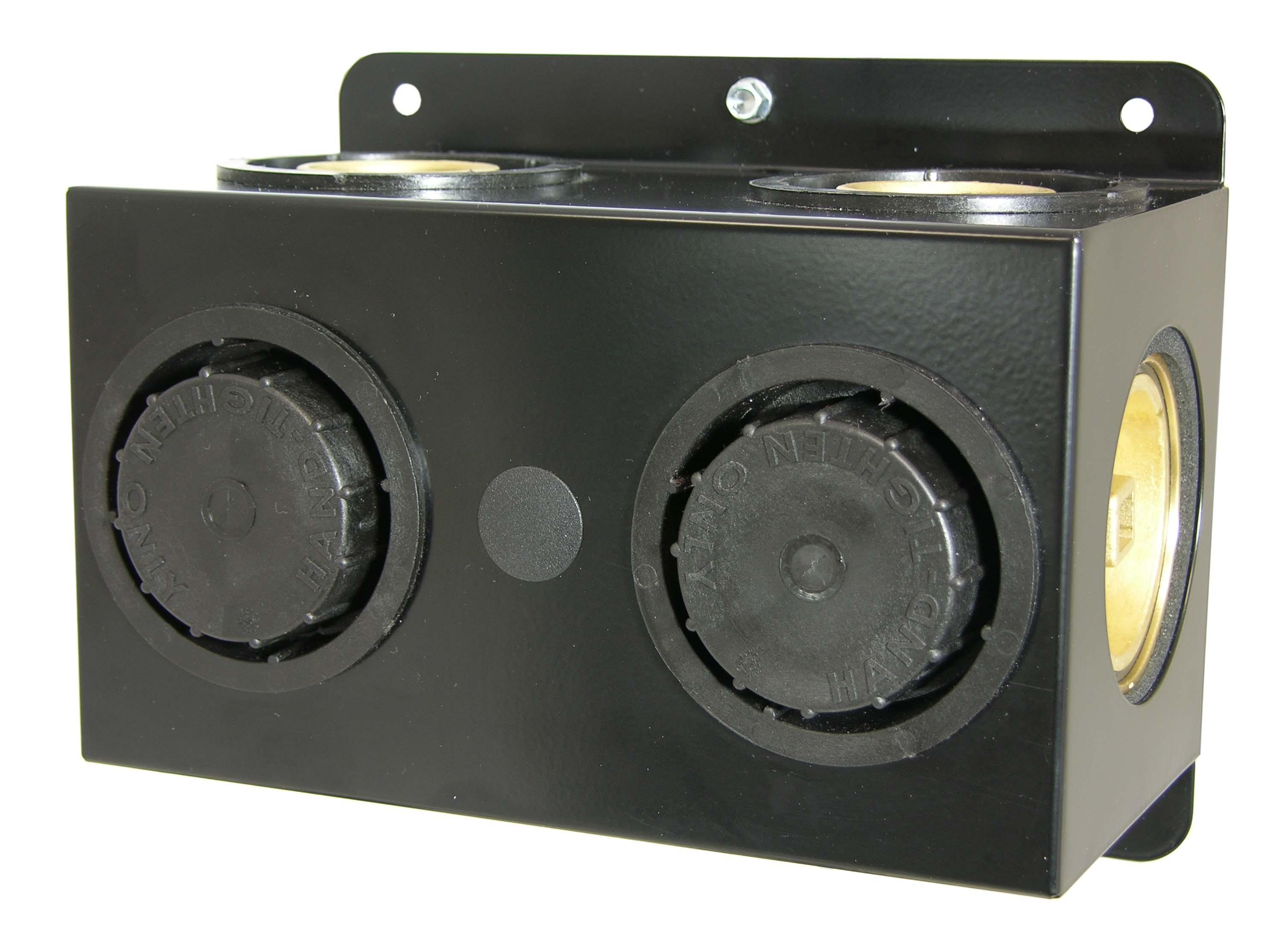 Geo-Flo  Valve box ,double,brass valves